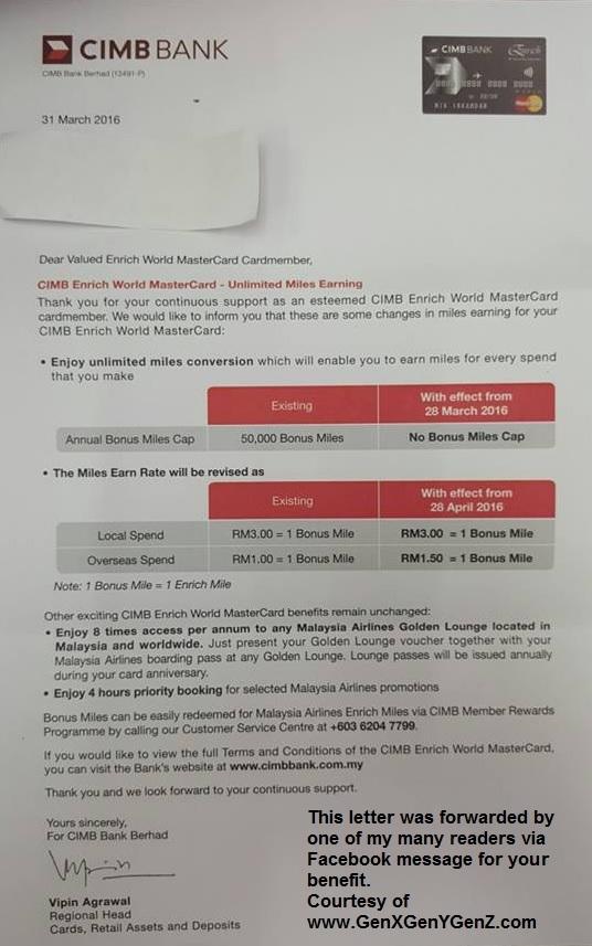 CIMB Enrich World MasterCard Benefit