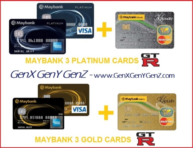 Maybank 3 2 plus 1 Platinum Gold Cards AMEX Visa MasterCard