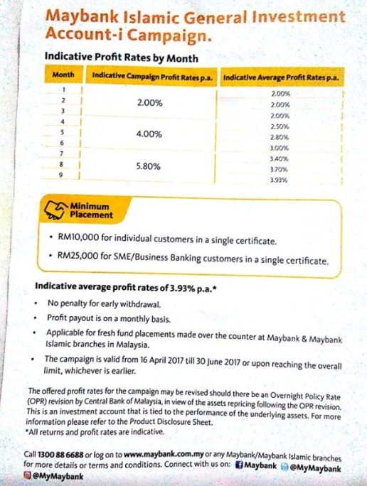 Maybank GIA FD Promo April May June 2017