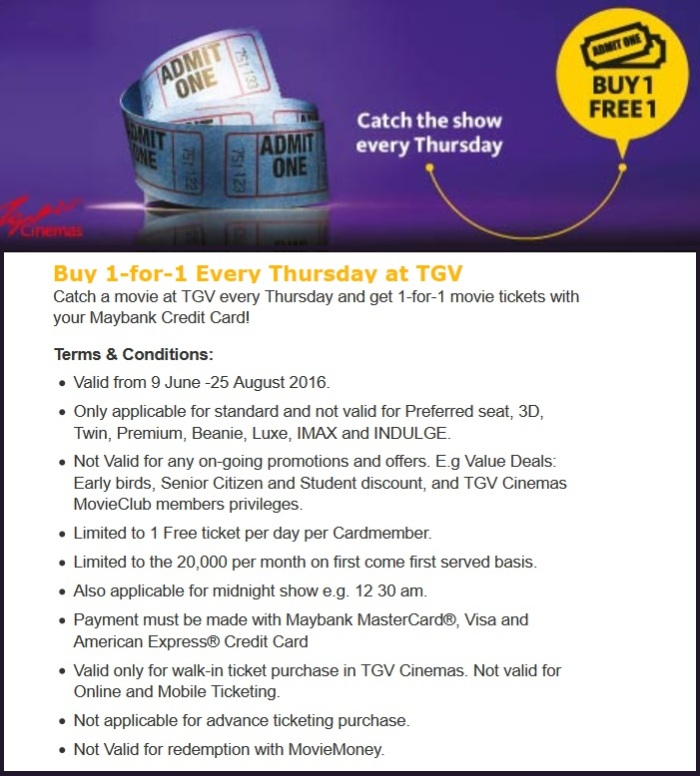 Maybank TGV Buy 1 Free 1