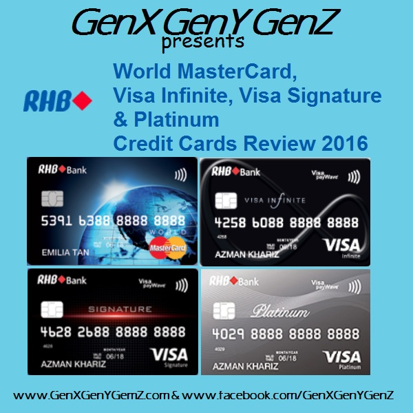 RHB Visa Infinite Signature MasterCard Platinum Credit Cards Review 2016