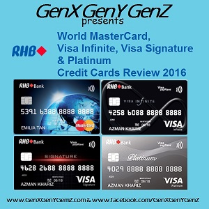 RHB Visa Infinite Signature MasterCard Platinum Credit Cards Review