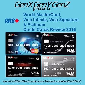 RHB Visa Infinite Signature MasterCard Platinum Credit Cards Review