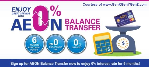 AEON Credit Balance Transfer 2016