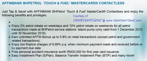 AffinBank Touch n Fuel MAsterCard