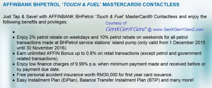 AffinBank Touch n Fuel MAsterCard