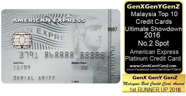 American Express Platinum Credit Card Best No 2 Malaysia