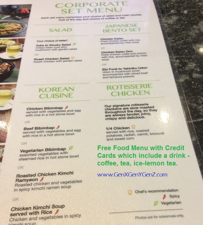 Green Market KLIA 2 Menu Credit Card