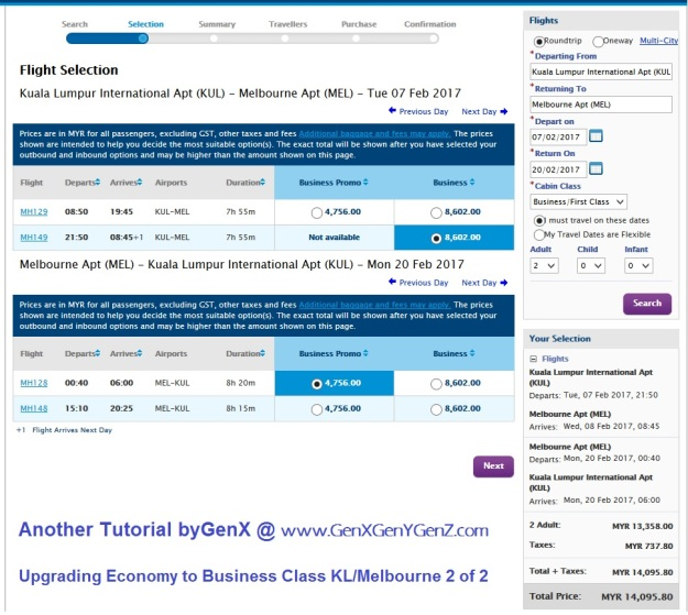 Upgrade Economy to Business Class 2