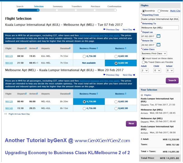 Upgrade Economy to Business Class 2