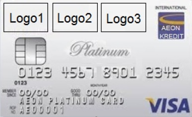 AEON Kredit Platinum Visa Logo Option