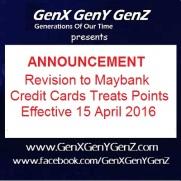 Maybank Treats Points Revision 2016
