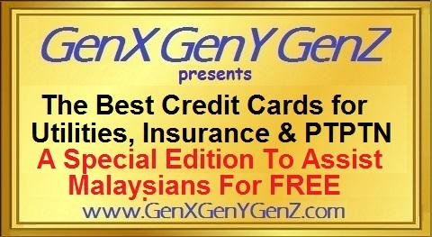 The Best Credit Cards for Insurance Premiums and Utilties PLUS PTPTN