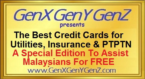 The Best Credit Cards in Malaysia for Insurance Utilty and PTPTN