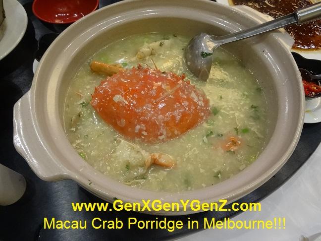 Ants Bistrol Melbourne Macau Crab Congee