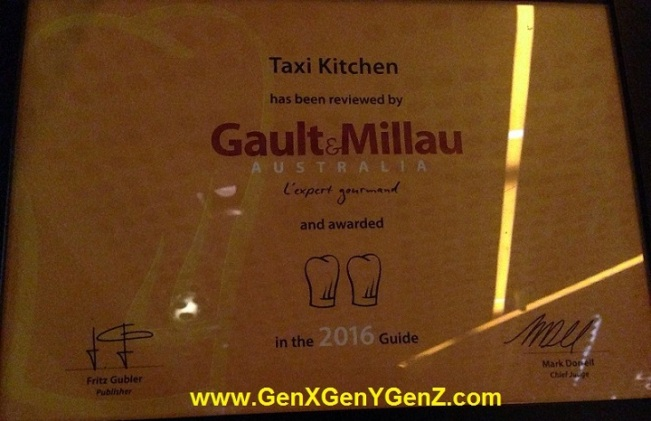 Taxi Kitchen Melbourne Award
