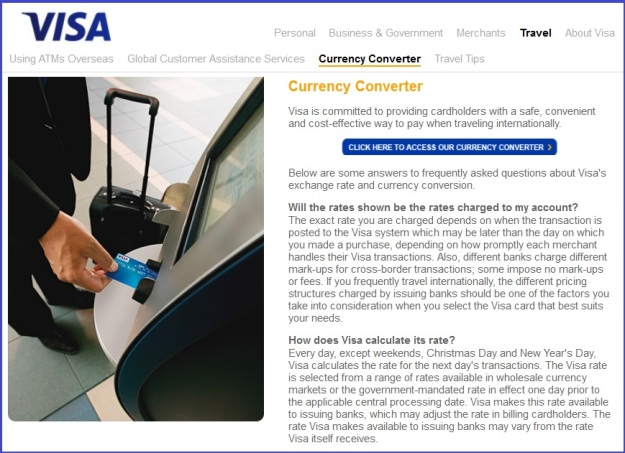 Visa International Currency Conversion
