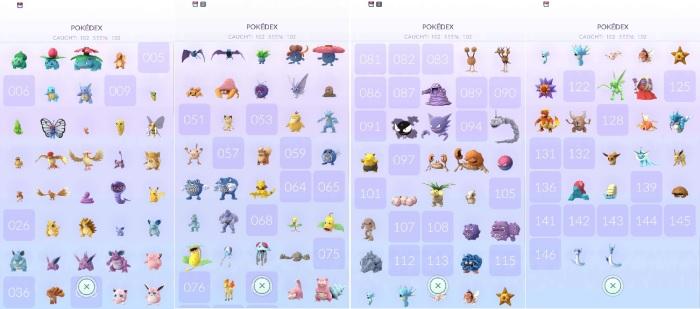 Pokemon Go Pokedex Mid Ausgust 2016.jpg