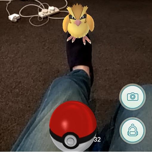 Pokemon on my feet