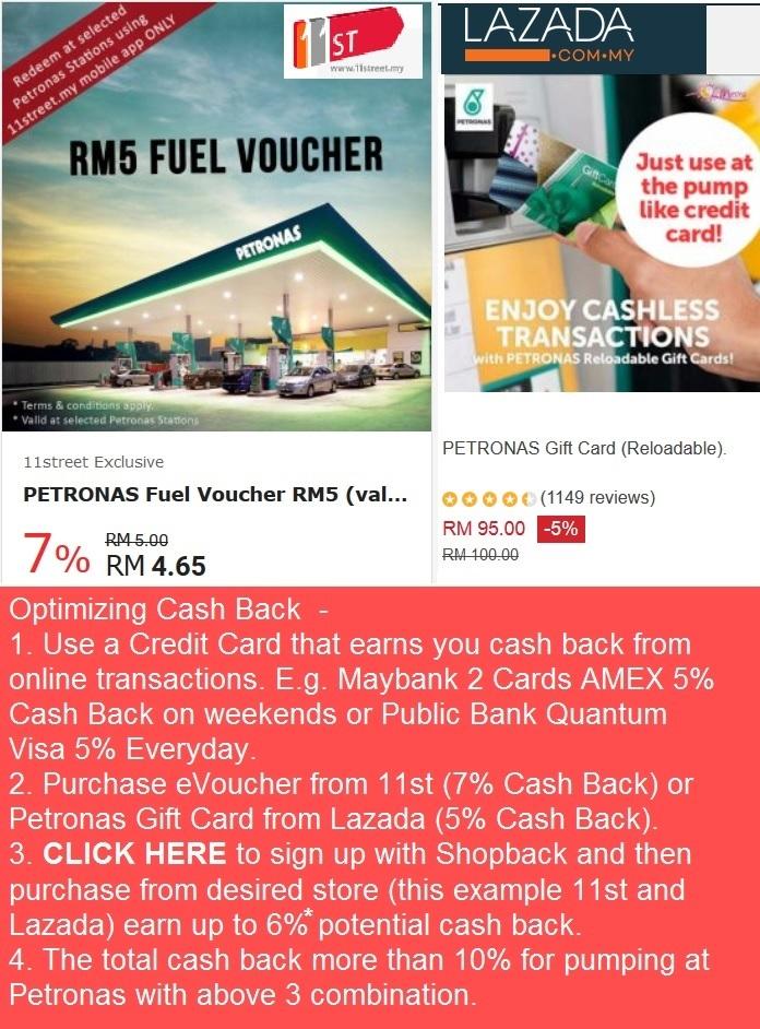 Cash Back at Petronas