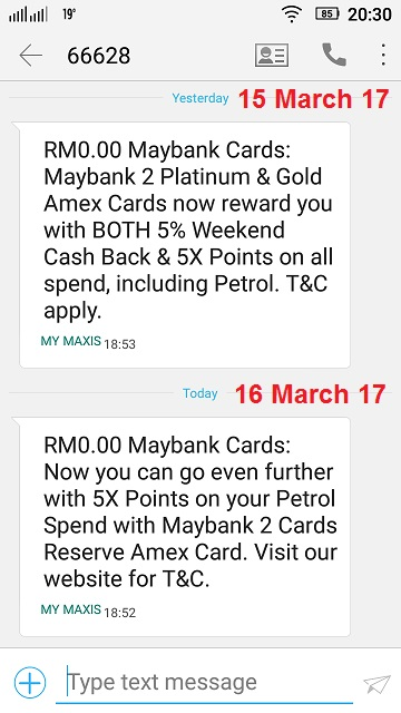 Maybank SMS Good News 2017