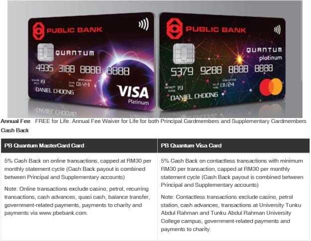 Public Bank Quantum Card