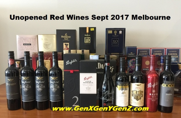 Red Wine Collection Melbourne Sep 2017