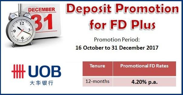 UOB FD Promo November December 2017