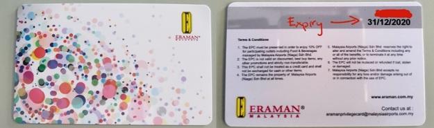 Eraman Privilege Member Card