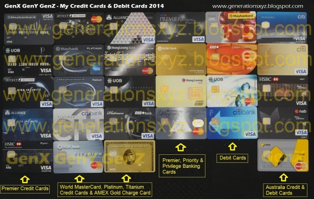 GenX Credit Cards 2014 Visa Infinite World MasterCard Visa Signature Australia Debit Cards