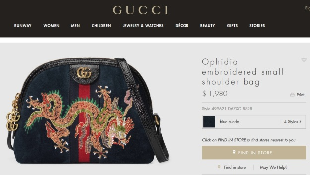 Gucci Ophidia Dragon Small Handbag Price USA