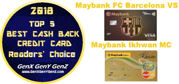 Readers Choice Top 5 Best Cash Back Credit Cards Malaysia