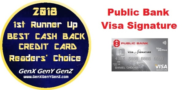 Readerss Choice 1st Runner Up Winner Best Cash Back Credit Card 2018 Public Bank Visa Signature