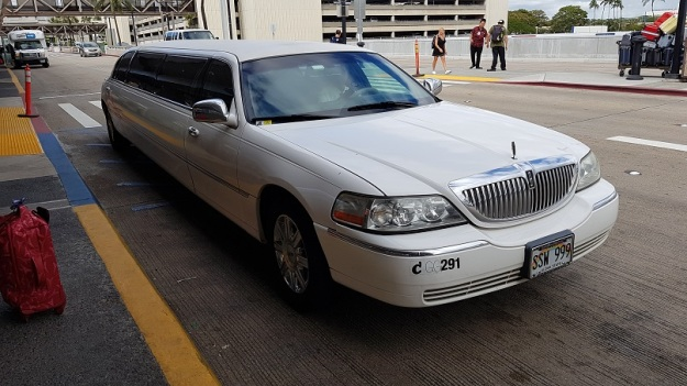 Stretch Limo ride to airport