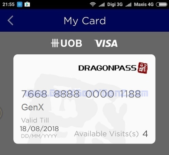 UOB Dragon Pass Card Airport Lounge