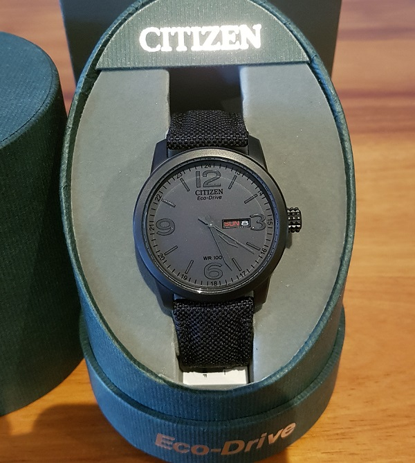 Citizen Eco Drive BM8475-00 All Black Military Style