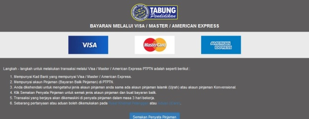 PTPTN Credit Card Payment