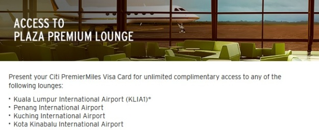 Citibank PremierMiles Airport Lounge Access
