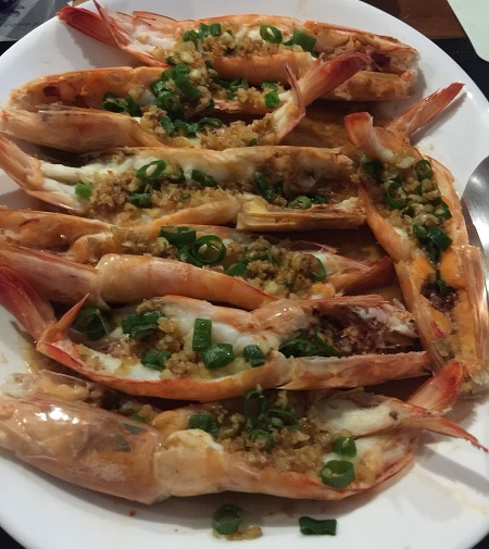 Garlic Ginger Prawn cooked with AMC