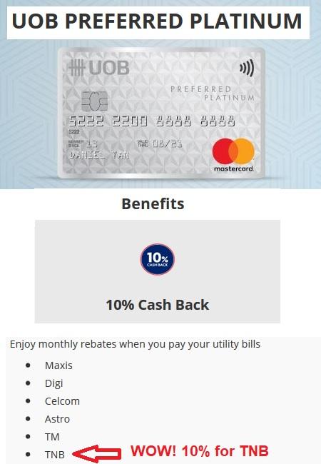 UOB Preferred Patinum MasterCard