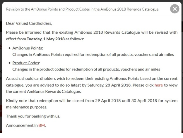 AmBank Reward Redemption Program