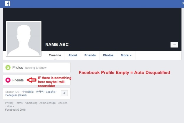 FB Profile Empty