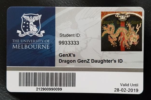GenX Daughter GenZ Uni ID
