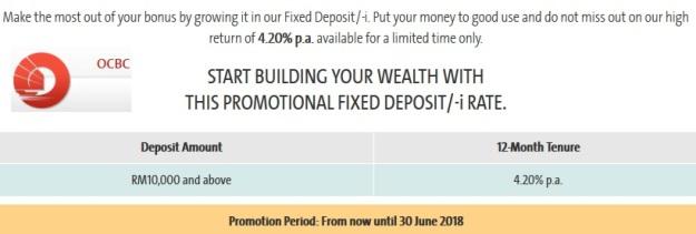 OCBC Fixed Deposit Promo April May June 2018