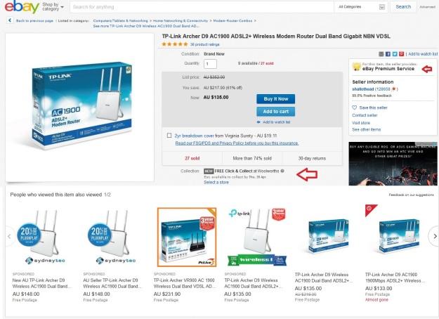 Tp-Link Archer D9 ebay Australia 2