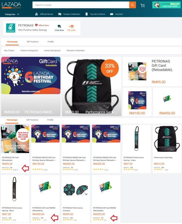 Lazada Pteronas Official Store