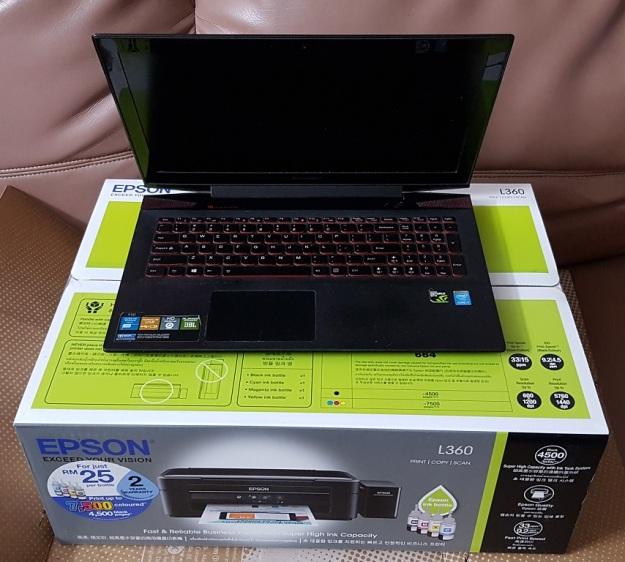 Lenovo i7 and Epson L360 2