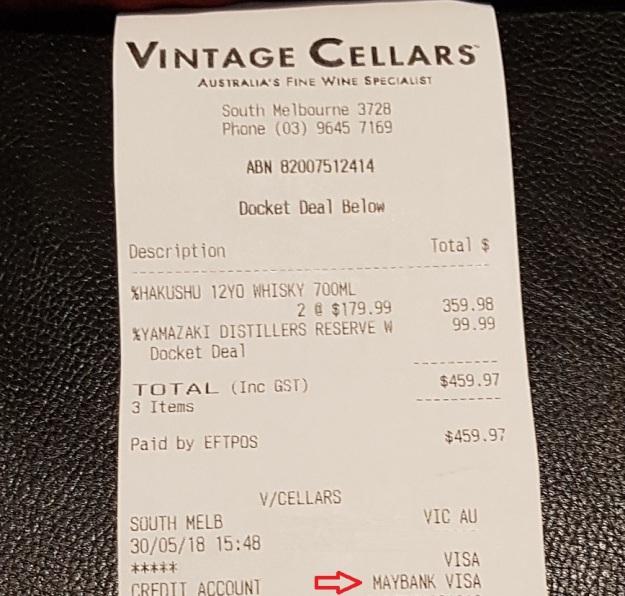 Vintage Cellar Bill