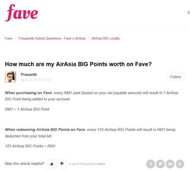 AirAsia big Points fave
