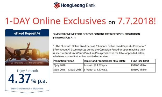 Hong Leong Bank FD Ptomo July 2018